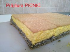 """Prăjitura """"Picnic"""" Romanian Food, Romanian Recipes, Biscuit, Picnic, Cheesecake, Sweets, Cookies, Desserts, Dna"""