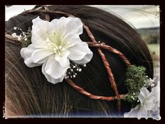 Rustic Vine Bridal Hair Garland on Etsy, $49.00