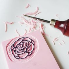 Learn how to carve easy DIY custom stamps.