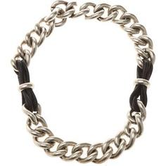 Balenciaga - Lace Chain & Leather Necklace