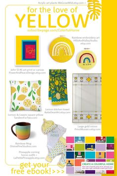 You probably know what your favorite colors are but do you know how to use them to create a home you'll love?  I show you how in the gorgeous and colorful ebook Create a Colorful Home.   Download it today to learn color wheel basics, discover your own personal color comfort level, and be inspired to use color in your home with confidence.  Bonus: Discover 14 female makers and their links to their colorful products as seen here!  Bring your vision to life: SubscribePage.com/ColorfulHome