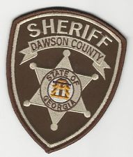Dawson County Sheriff State of Georgia Shoulder Patch!