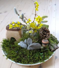 Spring nature table - Knecht Ruprecht Waldorfdolls
