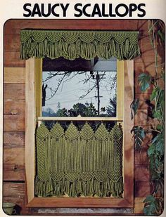 Vintage Macrame Window Dressings Craft Booklet--Cafe Curtains, Drapes, Valances, Doorways and More