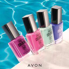 Spring Nail Colors, Spring Nails, Avon Brochure, Velvet Cushions, Perfume Bottles, Fragrance, Nail Polish, Lipstick, Make Up