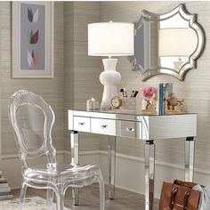 Vanity or office space? Either way perfect! Follow @lampsplus for more of their lighting and furniture!
