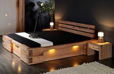 Classical Room Furnishing And King Size Pallet Furniture Designs Bed Frame Design, Diy Bed Frame, Bedroom Bed Design, Wood Bedroom, Modern Platform Bed, Bed Platform, Solid Wood Platform Bed, German Decor, Diy Bett