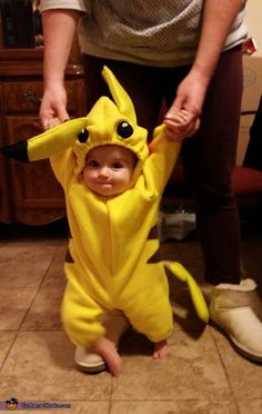 Pokemon - Halloween Costume Contest at Costume-Works.com  sc 1 st  Pinterest & Pokemon Pikachu Costume Onesie size 12M - 18M Cosplay Baby ...