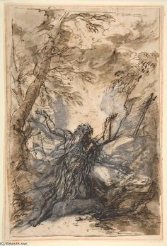 St. Paul, Hermit by Salvator Rosa (1615-1673, Italy)