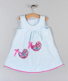 Take a look at this Blue Bird Appliqué Dress by Puffy Pie on today! Girls Dresses, Summer Dresses, Baby Dresses, Applique Dress, Something Special, New Wardrobe, Lovely Dresses, Blue Bird, Zip Ups