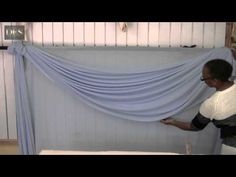 Making table skirt basic twist style with two color clothes Part 1 - YouTube