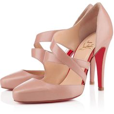 CITOYENNE SPECCHIO 100 mm (42,015 INR) ❤ liked on Polyvore featuring shoes, pumps, high heels, heels, louboutin, high heel shoes, high heeled footwear, nude high heel shoes, heel pump and high heel pumps