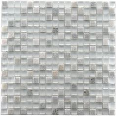 SomerTile 12x12-in Reflections Mini 5/8-in Ming Glass/Stone Mosaic Tile (Pack of 10) | Overstock.com