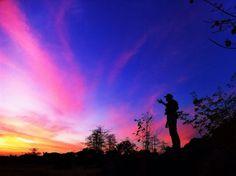 Sunset from taman batu maros sulawesi selatan