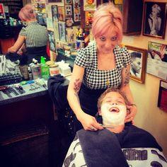 Ladybarbermonroe  lady barber