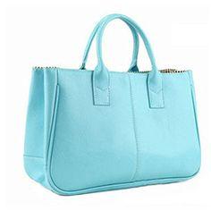 Classical Women Lady PU leather Clutch Handbag Crossbody Totes Bag Purse (sky blue,) - http://handbags.kindle-free-books.com/classical-women-lady-pu-leather-clutch-handbag-crossbody-totes-bag-purse-sky-blue/