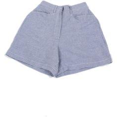 my mum made it Cotton Plaid Shorts ($40) ❤ liked on Polyvore featuring shorts, bottoms, plaid shorts, cotton shorts and tartan shorts