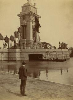 Triumphal Bridge, side view - Pan Am Expo 1901 Buffalo NY