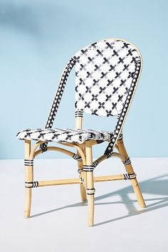 Black And White Strap Girona Outdoor Accent Chairs Set Of