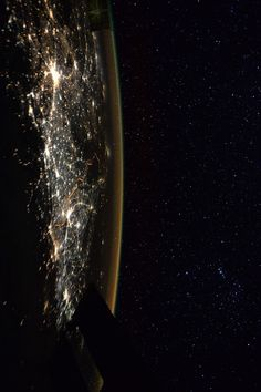 "City lights & Starry nights | International Space Station Peake: ""City lights and starry nights…spot Orion constellation?"" More about Tim Peake's Principia mission: www.esa.int/Principia Credit: ESA/NASA/ESA Astronaut Tim Peake of Britain Date: January 8, 2016"