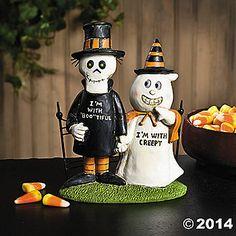 """I'm with Creepy"" Figurine"
