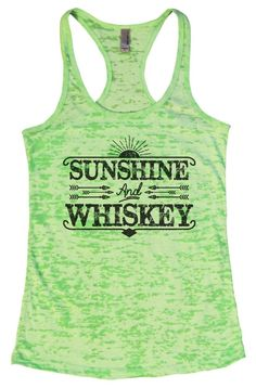 SUNSHINE And WHISKEY Burnout Tank Top By Womens Tank Tops