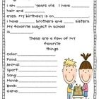 This is perfect for the beginning of the year.All about me sheetsFacebook profile sheet For more ideas please visit www.missnelsonsgotthe...