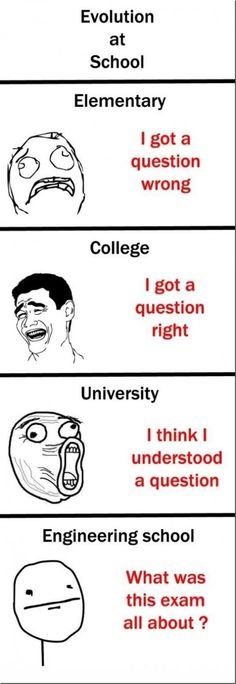 Rage Comics - Evolution at School - www.funny-pictures-blog.com