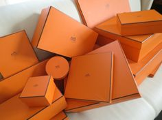 Hermes boxes. Photography and credit Marjory Segal.