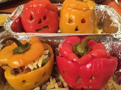 Chilli Stuffed Halloween Peppers