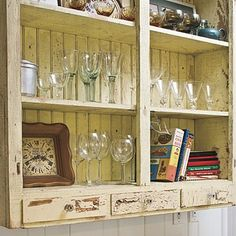 shabby farmhouse kitchen -want one for the dinning room