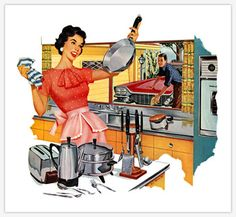 Cleaning Tips For Retro Housewives The Thrifty Kitschy Housewife Series Skip the Brillo .clean with potatoes? Housewife Meme, 1950s Housewife, Vintage Housewife, Retro Humor, Vintage Humor, Vintage Ads, Vintage Wife, Vintage Apron, Vintage Woman