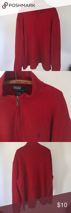 Mens polo sweater In used condition. Half zip sweater Polo by Ralph Lauren Sweaters Zip Up