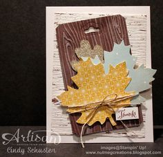 Thankful Tablescape on a card by Cindy Schuster