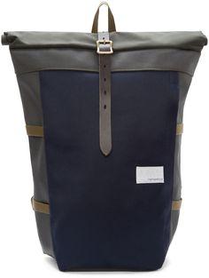 Nanamica Navy & Green Cycling Backpack