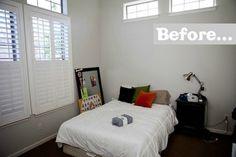 El dormitorio de un adolescente antes de la reforma