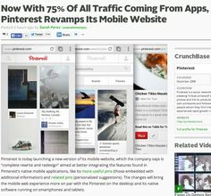 Now With 75% Of All Traffic Coming From Apps, Pinterest Revamps Its Mobile Website | TechCrunch