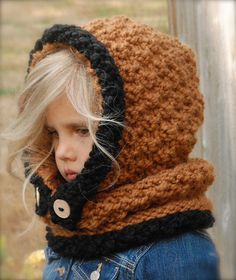 CROCHET PATTERN - Baylie Bear Cowl (3/6 months, 6/12 months, 12/18…