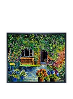 Pol Ledent Courtyard 79 Framed Canvas Print
