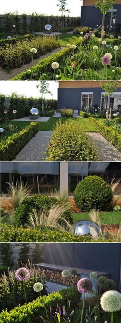Grand Garden – The Beauty and Simplicity of Modern Landscaping Modern Garden Design in Matúškovo with garden area of 330 m2, built in 2011