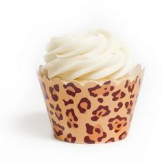 Wild Leopard Print Cupcake Wrappers BULK (12 Wraps) BEST SELLER! [DMC6006 Wild Leopard Cupcake] : Wholesale Wedding Supplies, Discount Wedding Favors, Party Favors, and Bulk Event Supplies