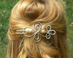 Cross Hair Fork Hair Accessories Hair Sticks by ElizabellaDesign