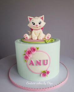 Kitten cake - cake by Couture cakes by Olga - CakesDecor Birthday Cakes Girls Kids, Disney Princess Birthday Cakes, Birthday Cake For Cat, First Birthday Cakes, Torta Hello Kitty, Kitten Cake, Kitten Party, Rodjendanske Torte, Girly Cakes