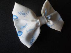 HEY Listen Look its a Navi hair bow Zelda inspired Bow Tie. $6.00, via Etsy.