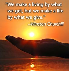 Wise words from Winston Churchill