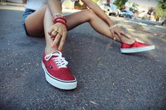 RED SPARKLY VANS, my version of red ruby slippers
