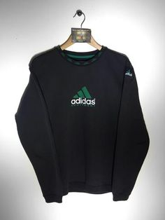 Adidas Sweater Black Stripes Cotton Sweater Adidas Pullover Slouchy Sweater V-neck Knit Oversize Vintage 90s Size L - Xl gUv0Mr