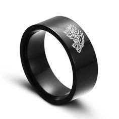 USA Stainless Steel Game of Thrones Ice Wolf House Stark of Winterfell Men Ring #gameofthrones #gameofthronesring #icewolfring #bluering #menring #ringjewelry #ring #rings