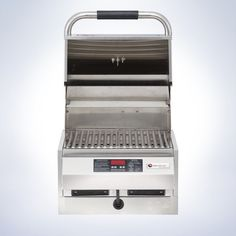 """Small yet powerful 16"""" flameless outdoor grill built-in model features a commercial design and industrial strength stainless steel construction. Digital precision temperature control up to 600°, even heating and easy access clean-up grids and drip pans meet the demanding standards of the most discerning grill masters."""