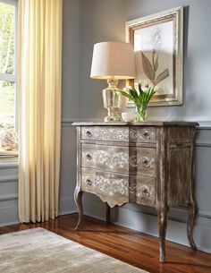 FRENCH COUNTRY COTTAGE: Inspirations~ Accentrics Home...like the picture frame with gold and white